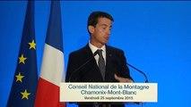 Extrait du discours de Manuel Valls sur la montagne à Chamonix