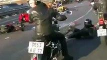 【衝撃映像】番外編!!バイクのクラッシュ特集!!海外自動車事