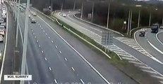 CCTV: Cyclist Causes Chaos On M25 Rush Hour Ride