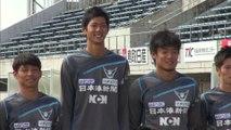 サッカー教室 ガイナーレ選手が小学生を指導