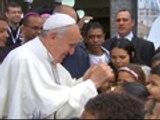 Pope Francis visits Brazilian favela