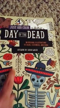 BOOK REVIEW:  Just Add Color Day of the Dead by Sarah Walsh
