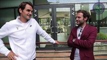 09. Juan Mata, David de Gea and Ander Herrera meet Roger Federer and Jamie Murray