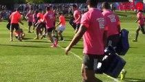 Coupe du monde de rugby: Entraînement public des Bleus