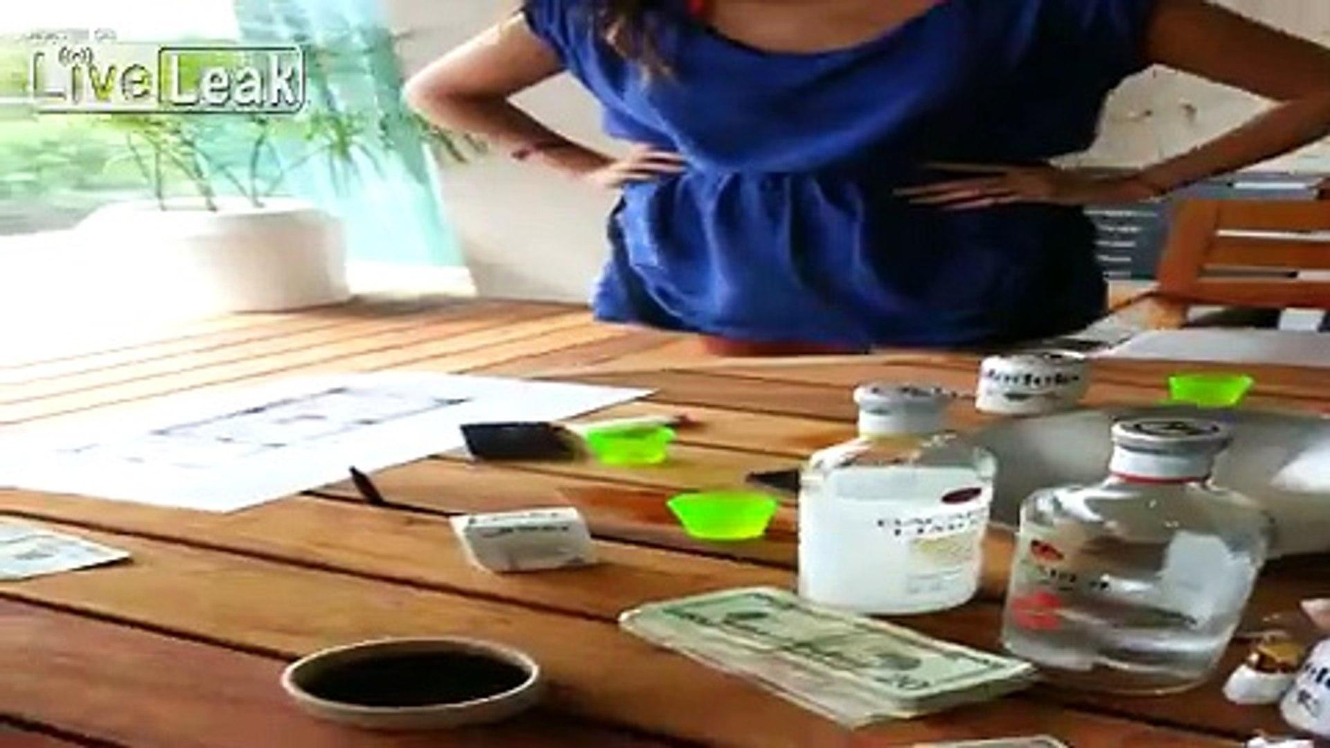 LiveLeak com - girl drinks ashtray liquid