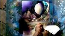 How to spray paint,acrylic airbrush June 2013, waterfall, airbrush, sunset, cactus, desert, comic book