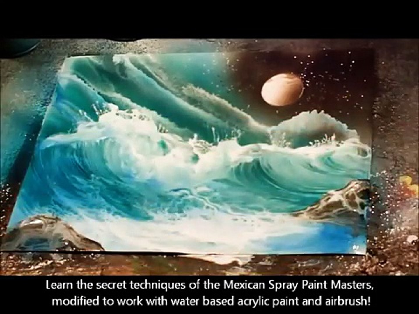 Airbrush Space Wave Painting