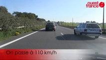 Tour de la rocade de Rennes avant le changement de vitesse. A 90 et 110 km/h.