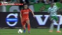Brutal soccer tackle breaks players leg