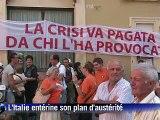 Sous intense pression des marchés, l'Italie entérine son plan d'austérité