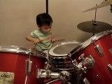 bébé batteur