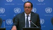 Conférence de presse du président de la République à l'issue de son intervention devant l'Assemblée Générale de l'Organisation des Nations Unies