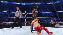 Nikki Bella  Brie Bella vs Naomi  Sasha Banks SmackDown July 23 2015 - Playitpk