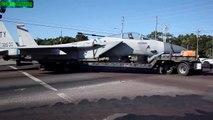 F-15 Avión De Combate Transportado Por Ciudad de Panama