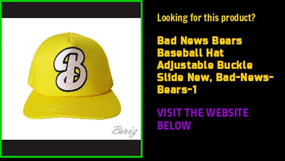 Bad News Bears Baseball Hat Adjustable Buckle Slide New, Bad-News-Bears-1
