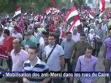 Egypte: des centaines de milliers d'opposants à Morsi dans les rues