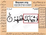 Surrah 074_004AL-Modaser  word to word Quran by sheikh imran faiz The easiest way to learn Word by word meanings of Qura