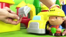 Kids Toy Construction Mr Builder and his Excavator & Jack Hammer BUILD a House! Children