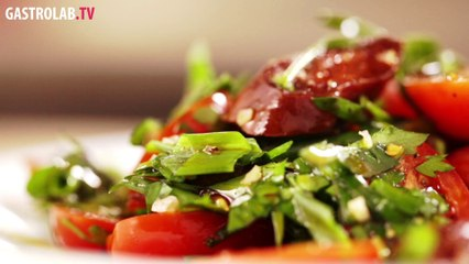Recipe for Andalusian Salad with Chorizo and Tomatoes