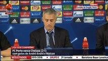 Jose Mourinho press conference José Mourinho Conf de Imprensa FC Porto 2 x 1 Chelsea 2ª Jorn Champions League 2015-16