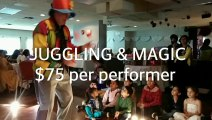 Compare Mike Battie to Metro Vancouver $75 Juggler + Magician, Bobby The Magician Demo Reel, Kids Birthday Parties Entertainers