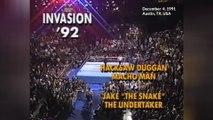 1991-12-04 WWF Invasion - Macho Man Randy Savage & Hacksaw Jim Duggan VS Jake The Snake Roberts & The Undertaker