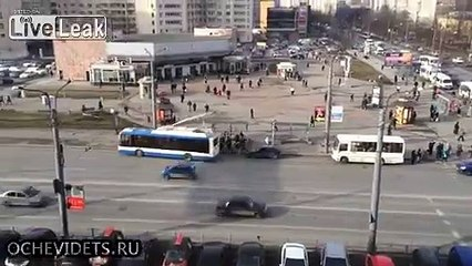 Trying to start a car with a trolleybus.