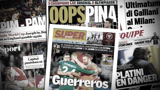 La presse anglaise désigne le coupable de la débacle d'Arsenal, l'ultimatum fixé aux joueurs du Milan AC