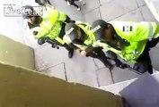 LiveLeak.com - Columbian Police Beat Two Women, Female Cop Loses It