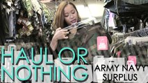 Haul or Nothing: Army Navy Surplus Clothes Shopping [Part 1/2]