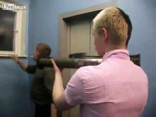 Meanwhile in Ukraine. Teenagers shooting from a grenade launcher.