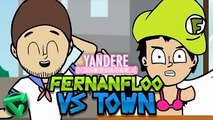FERNANFLOO VS ITOWNGAMEPLAY - ANIMACIÓN YANDERE SIMULATOR (Animation)