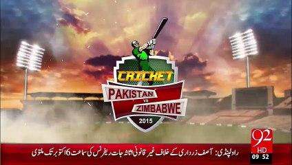 Pakistan VS Zimbabwe 1st One day Aj Hoga – 01 Oct 15 - 92 News HD