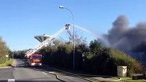 Incendie à Wimille, dans la zone de la Trésorerie