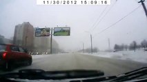 NEW scary fast car accident on icy road in Russia !Skoda Octavia crash