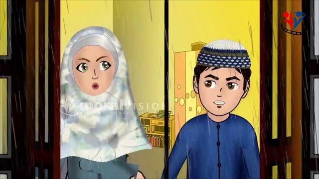 Rainy Season and Abdul Bari Islamic Muslims cartoon for children