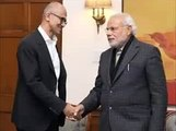 Satya Nadella WIPES Hands Clean After Shaking Hand With Modi INSULT Or MISTAKE_!!!