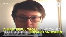 Master Prankster Trolls HLN With Edward Snowden And Edward Scissorhands