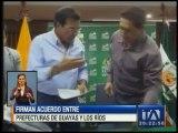 Firman acuerdo entre Guayas y Los Ríos