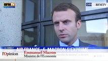 TextO' : Air France / Emmanuel Macron : «J'appelle l'ensemble des partenaires sociaux, et en particulier les pilotes, à prendre leurs responsabilités.»