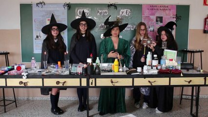 Science on Stage: Chemistry and Physics with Harry Potter