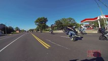 Stunt Bike Riding WHEELIES Catches On FIRE Motorcycle Stunts ROC 2014 Ride Of The Century