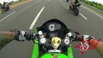 Motorcycle Stunts INSANE Highway WHEELIES Switch Throttle Hand One Handed Stunt Bike WHEEL