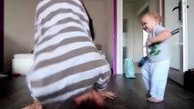 Battle de danse entre un bébé et son papa : trop mignon!