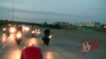 Stunt Bike Riders TOUCH FEET In WHEELIE On Highway Motorcycle STUNTS + TRICKS Street Bike