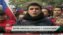 Barra chilena se enfrenta a estudiantes argentinos en Mendoza