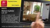 A vendre - Maison - SALLES D AUDE (11110) - 6 pièces - 131m²