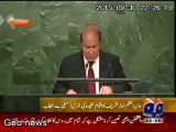 Prime minister of Pakistan Mian Mohammad Nawaz Sharif speech in United Nation on 30 Sep-15. He raised the Kashmir dispute