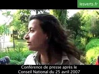 Cécile Duflot 25 avril 2007