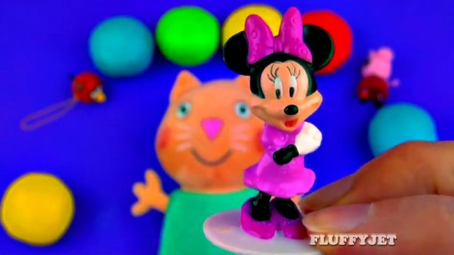 Play-Doh Suprise Eggs with Candy Cat Peppa Pig Sesame Street Shopkins Minnie Mouse LPS FluffyJet [Full Episode]
